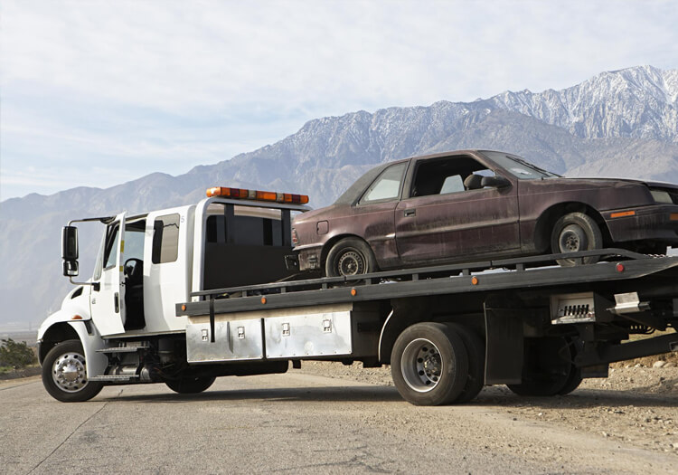 This is a picture of a towing service.